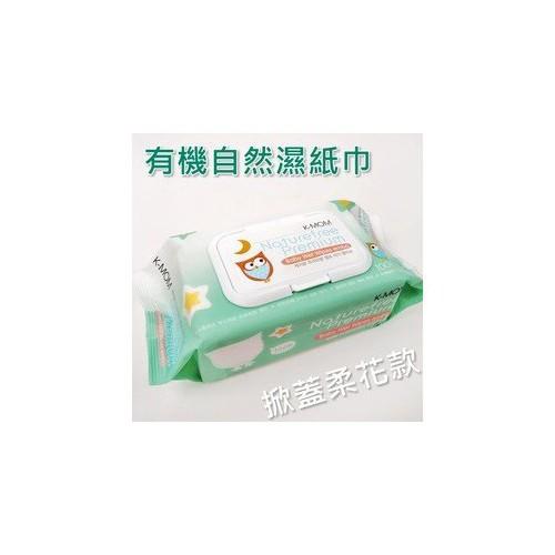 韓國K-Mom有機自然幼兒濕紙巾 100張 掀蓋柔花款