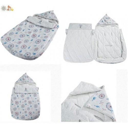 Peter Rabbit 【漫遊倫敦系列】100%精梳棉初生3D抱被睡袋