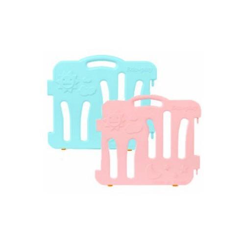 Edu.play自由組合圍欄配防滑墊 伸延件 一套兩塊 薄荷藍長板+粉紅色長板