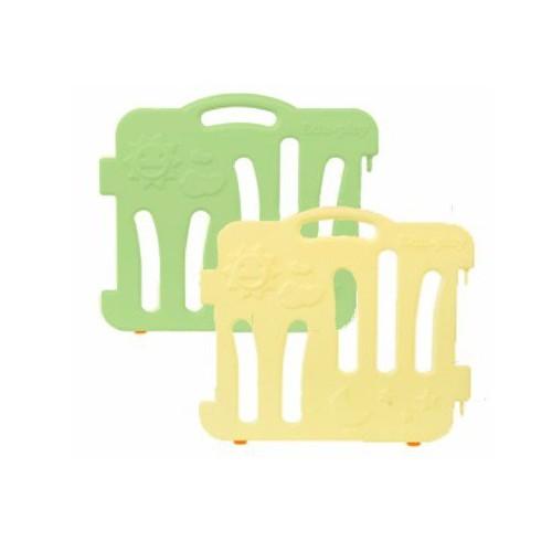 Edu.play 自由組合圍欄配防滑墊伸延件 一套兩塊 淺黃色長板+綠色長板