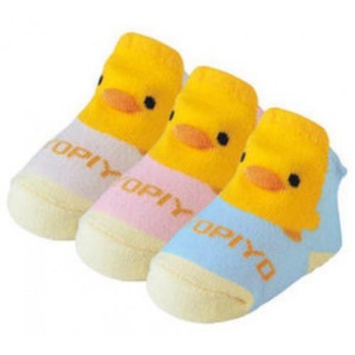 黃色小鴨立體童襪