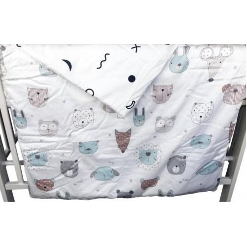 California Bear 貢緞嬰兒棉被 - (森林動物)