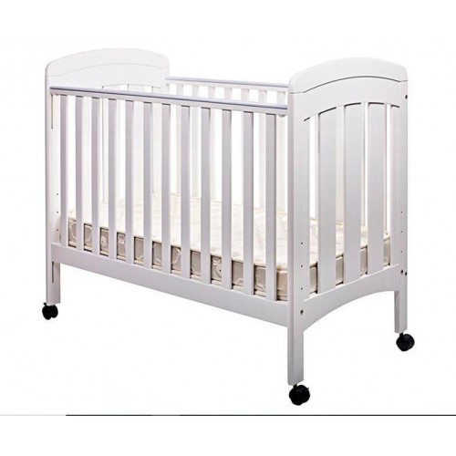 0/3 Baby CLARA 紐西蘭松木嬰兒床 (0-4歲) - 白色