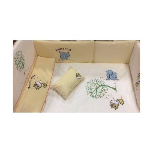 California Bear斜紋布嬰兒床品床圍 - (可愛長頸鹿)