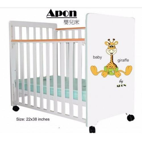 C-MAX 嬰兒床22W x38L Apon 白色