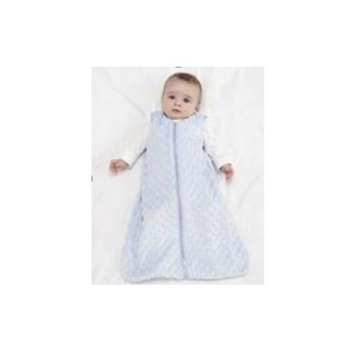 美國HALO 嬰兒包腳睡袋(毛巾棉春夏適用)Blue Plush Dot, MD