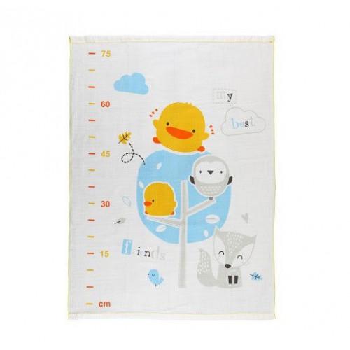 黃色小鴨PiyoPiyo長型雙層紗 布浴巾