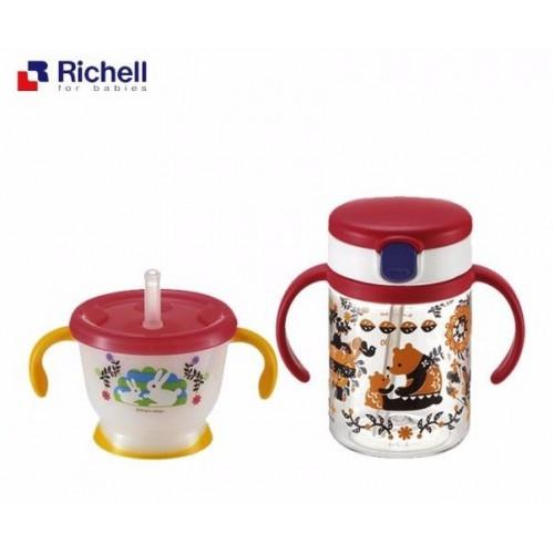 日本Richell Kinpro MR 吸管式飲水杯套裝