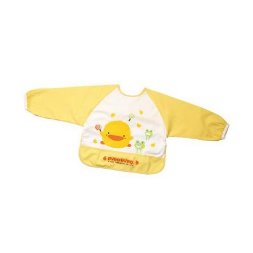 黃色小鴨長袖餵食圍兜