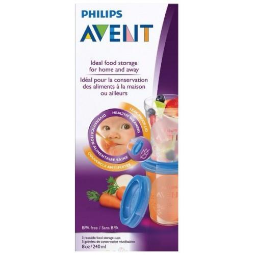 Philips Avent 5個儲存杯套裝