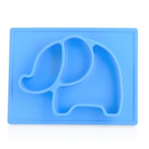 Nuby Sure GripTM Miracle Mat™ 矽膠動物分格餐盤