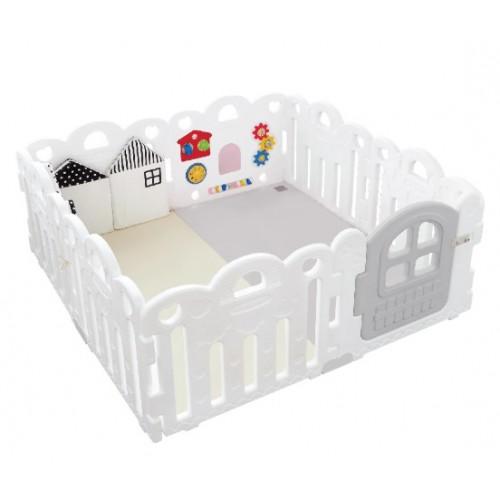 Haenim Toy Petit 寶寶屋地墊套裝附有面板固定扣 - 雪白色