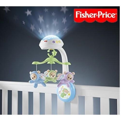 Fisher-Price 三合一投影小熊床鈴