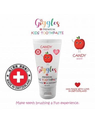 Giggles - 瑞士兒童牙膏 - 蘋果味 1-6歲 (50毫升)