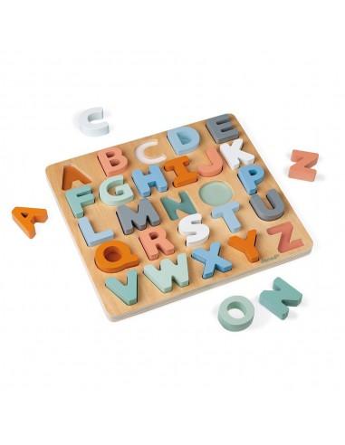Janod 木製雙面字母拼圖黑板