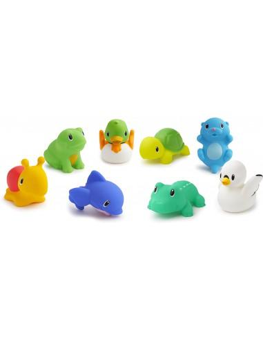 Munchkin 動物農場噴水洗澡玩具-8個裝