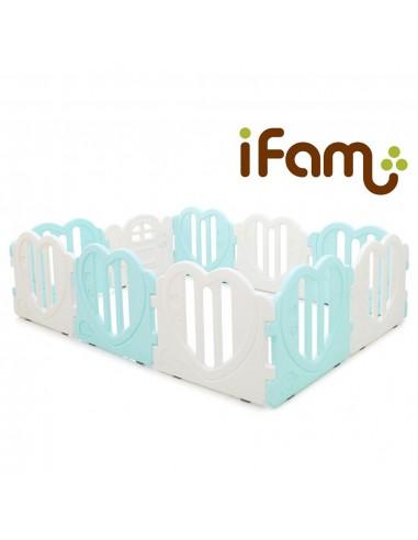 iFam 心心圍欄大號 (綠白王子)