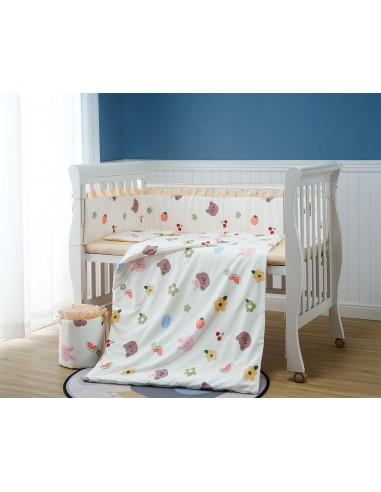 Lenny world 嬰兒全棉貢緞床品套裝 -  玩樂時光